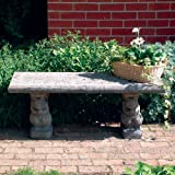 Large Garden Bench - Straight Plain Top Stone Bench