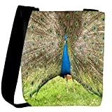 Snoogg colorful peacock Womens Carry Around Cross Body Tote Handbag Sling Bags