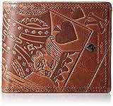 [キャサリンハムネットロンドン] 二つ折り財布 国産キングエンボスプルアップレザー CASINO 490-50101 23 キャメル