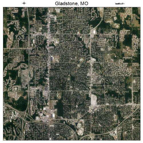 Aerial Photography Map of Gladstone, Missouri