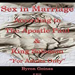 Sex in Marriage   Byron Goines