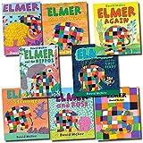 David Mckee Elmer the Elephant Collection David Mckee 8 Books Set (Elmer, Elmer and the Hippos, Elmer and the lost teddy, Elmer and the wind, Elmer again, Elmer and the stranger, Elmer and Rose, Elmer and grandpa Eldo)