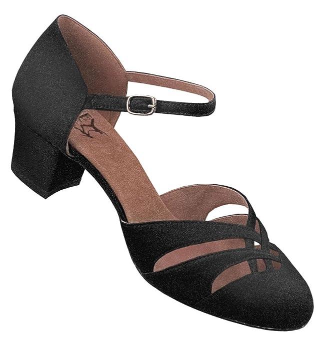 Aris Allen Womens Black 1920s Satin dOrsay Swing Dance Shoes $59.95 AT vintagedancer.com