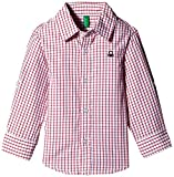 UCB KIDS Baby Boys' Shirt (15P5DU65Q200G9030Y_Red and white_0Y)