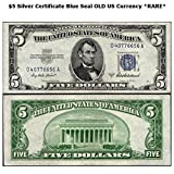 1953 Various Mint Marks $5 Blue Seal Silver Certificate Series Old Real US Currency *RARE* $5 Very Good