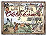"""""""State of Oklahoma"""" Tapestry Throw Blanket 50"""" x 60"""""""