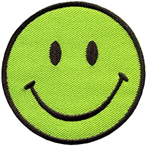 amazoncom smiley face lime green boho 70s retro smile