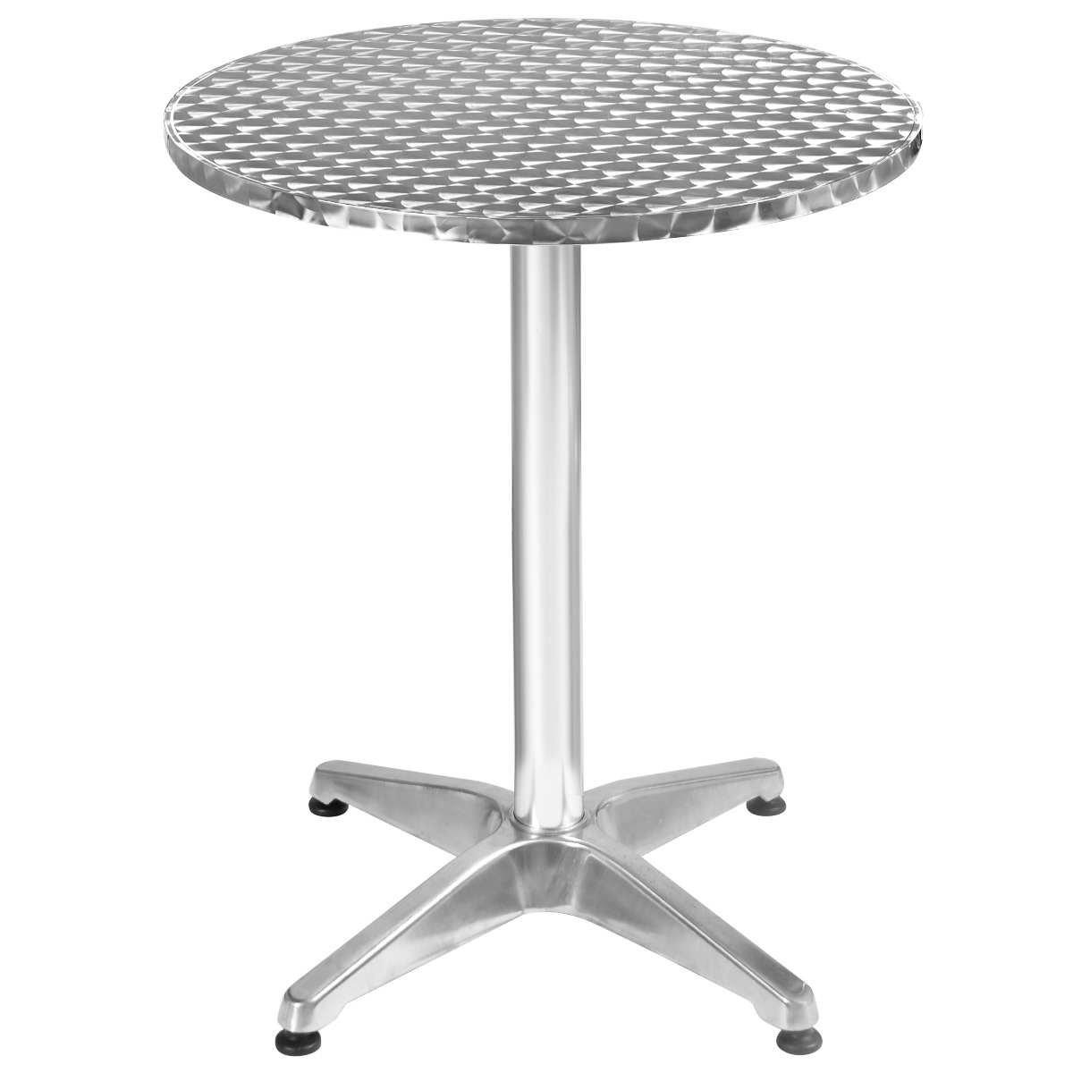 Bistrotisch Stehtisch Bartisch Balkontisch Patytisch Aluminium Tisch Gartentisch Ø60cm Outdoor Gartenmöbel Rostfrei Höhenverstellbar 75cm oder 110cm online kaufen