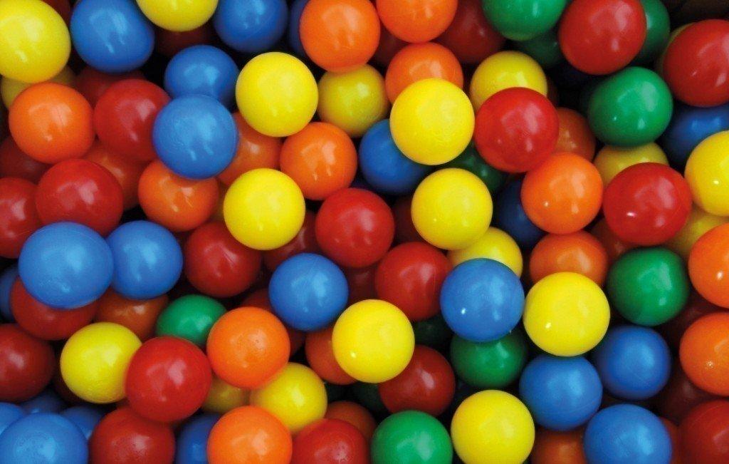 500 Stück Spiel- und Ballkugeln für`s Bällebad / Therapiebälle / Durchmesser: 75 mm / farblich sortiert / TÜV geprüft günstig kaufen