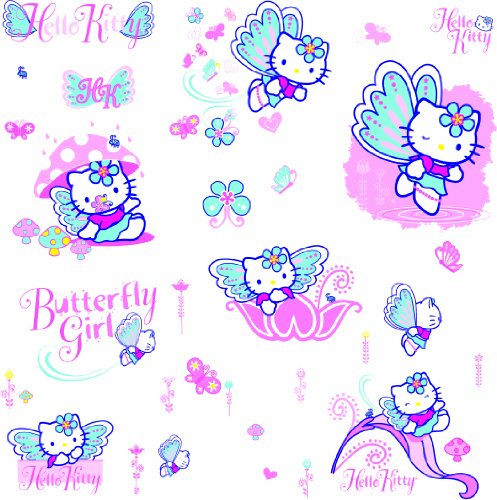 RoomMates RMK1075SCS Hello Kitty Peel & Stick Wall Decals