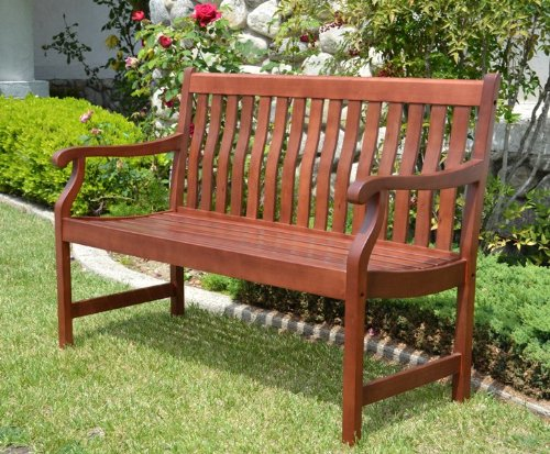 Duramen - 4ft Outdoor Patio Wood Bench Teak Finished