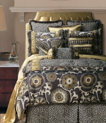 Jennifer Taylor 4 Pcs Comforter Set ESPRESSO Collection