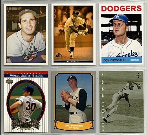 sandy-koufax-bob-gibson-nolan-ryan-jim-bunning-don-drysdale-1964-tom-seaver-reprint-baseball-card-lo