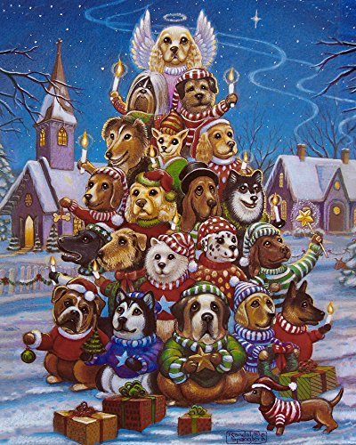 Canine Christmas Tree Jigsaw Puzzle 1000 Piece