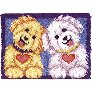Caron Wonderart 20x27 Latch Hook Kit: Shaggy Puppies