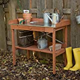 Jennings Potting Bench with Steal Top