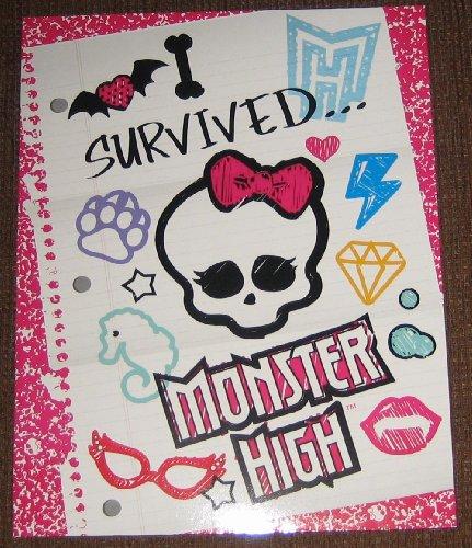 Ghoulishly Fabulous Monster High Folder Back 2 Ghoul School