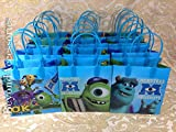 12pcs Monster University Treat Bags Goodies Bags Party Favor Birthday Gift Bags