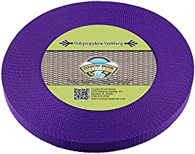 Country Brook DesignTM 58 Inch Purple Heavy Polypro Webbing 50 Yards