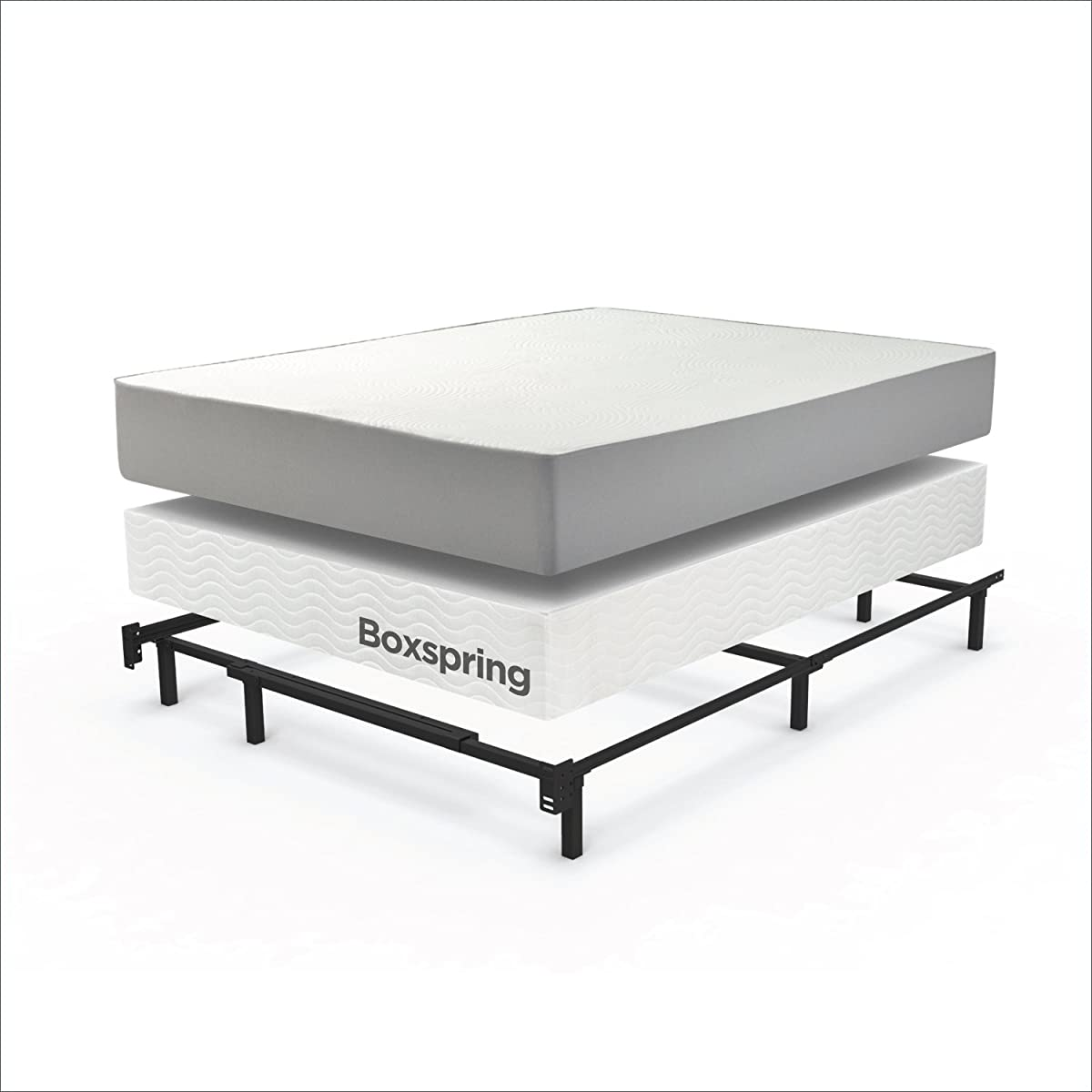 Zinus Compack 9-Leg Support Bed Frame, for Box Spring & Mattress Set, Queen