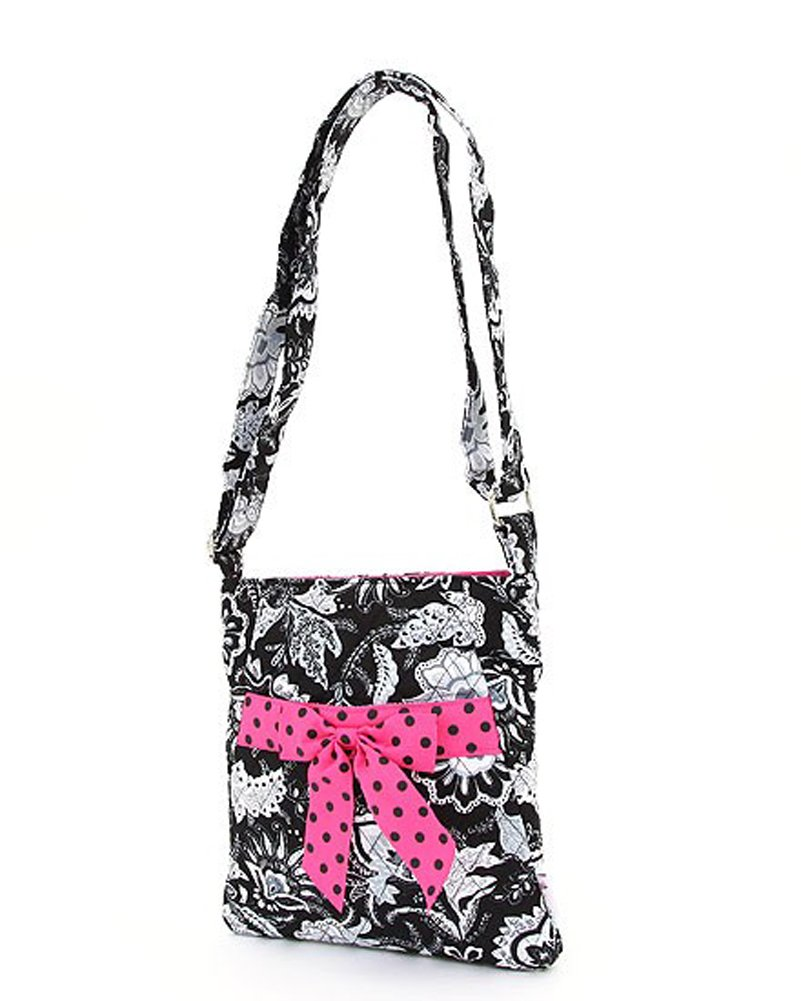 Belvah Quilted Floral Hipster Crossbody Handbag (assorted colors)