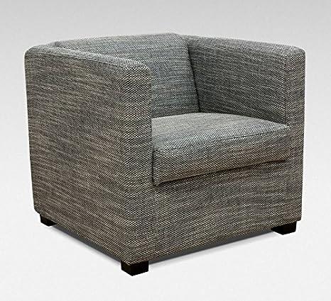 ROVIGO Boxspringsessel Sessel Einzelsessel Einzelsofa Sofa Strukturstoff Grau