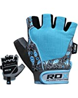 Authentic RDX Ladies Gel Gloves Fitness Gym Wear Weight Lifting Workout Training Cycling Blue