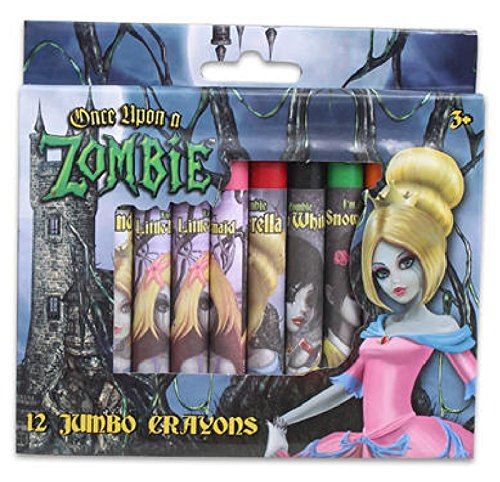 Once Upon a Zombie Princess Jumbo Crayons 12 Count