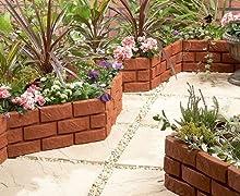 Buenas Ideas instantáneamente ladrillo (1169) frontera jardín efecto ribete del césped en ladrillo diseñado para mantener su césped y flores ordenadito.
