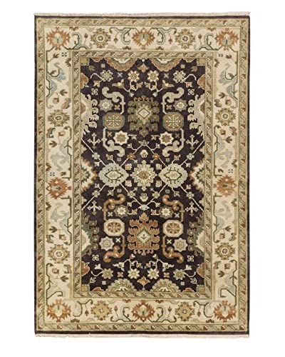 eCarpet Gallery One-of-a-Kind Hand-Knotted Royal Ushak Rug, Dark Brown, 6' x 8' 11""
