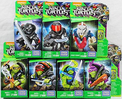 Set of 7: Mega Bloks Teenange Mutant Ninja Turtles: Out of The Shadows Figures