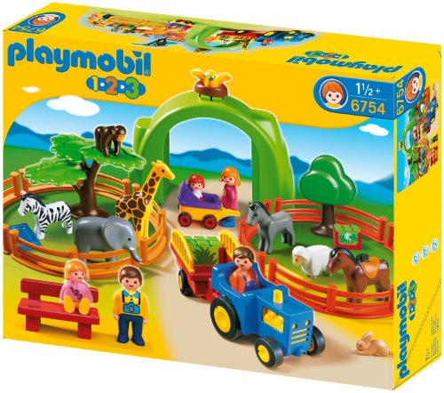 Playmobil 1.2.3 Large Zoo front-996833