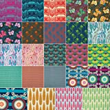 "Anna Maria Horner PRETTY POTENT Design Roll 2.5"" Precut Cotton Fabric Quilting Strips Assortment Jelly Free Spirit FB3DRAH.12014"