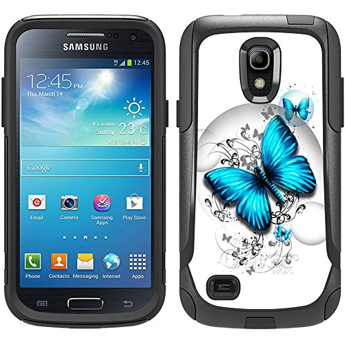 Skin Decal for Otterbox Commuter Samsung Galaxy S4 Mini Case - Blue Butterfly Design (Samsung Galaxy S4 Mini Decal compare prices)