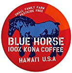 Farm-direct: 100% Kona Coffee, Single Serve for Keurig K-Cup Brewers, 10 Count, Full-City Roast made by Blue Horse 100% Kona Coffee