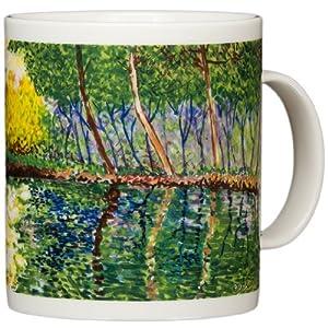 Claude Monet - The Pond at Montgeron - 14oz Coffee Mug by Chaleur