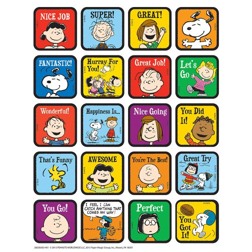 Eureka Peanuts Motivational Theme Stickers