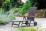 Gartenliege-Relaxliege-Rattan-Optik