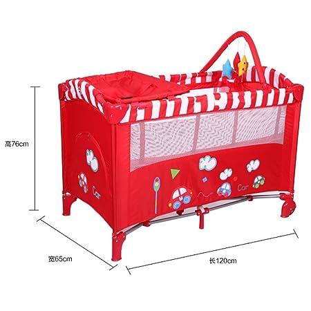 YINGER Letto aggiuntivo per bambini Portable Multifunzionale Letto neonato Surround Giochi letti Materna e infantile forniture Colorato , pink