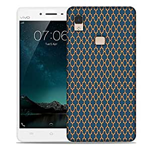 Snoogg Abstract Yellow Green Pattern Designer Protective Phone Back Case Cover For Vivo V3 Max