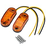 Car Light, Dacawin 2x12 v / 24 v Tow Truck Side Marker Light LED Submersible Lamp (Yellow) (Color: Yellow)