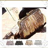 【レディース】 (コンポラ コント) COMPORA CONT スパンコール 2way がまグチ ミニパーティーバッグ