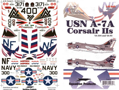 Superscale USA USN A-7A Corsairs IIs Decals #1