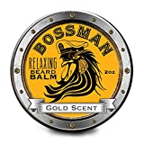 Relaxing Beard Balm Gold Scent - All Natural Beard Balm 2 OZ by Bossman Brands