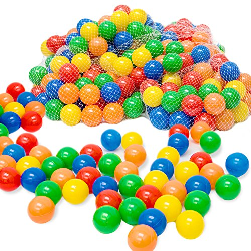 100x Palline di Plastica Colorate | Ideali per riempire piscine castelli gonfiabili tende gioco per bambini etc. | Diametro: 6,0 cm