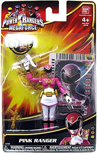 Power Rangers Megaforce Action Figure Pink Ranger, 4 Inch