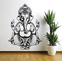 Vinyl Wall Decal Sticker Art Decor Bedroom Ganesh Elephant GOD OM Yoga Buddha Mandala Ganapati Wall Decal