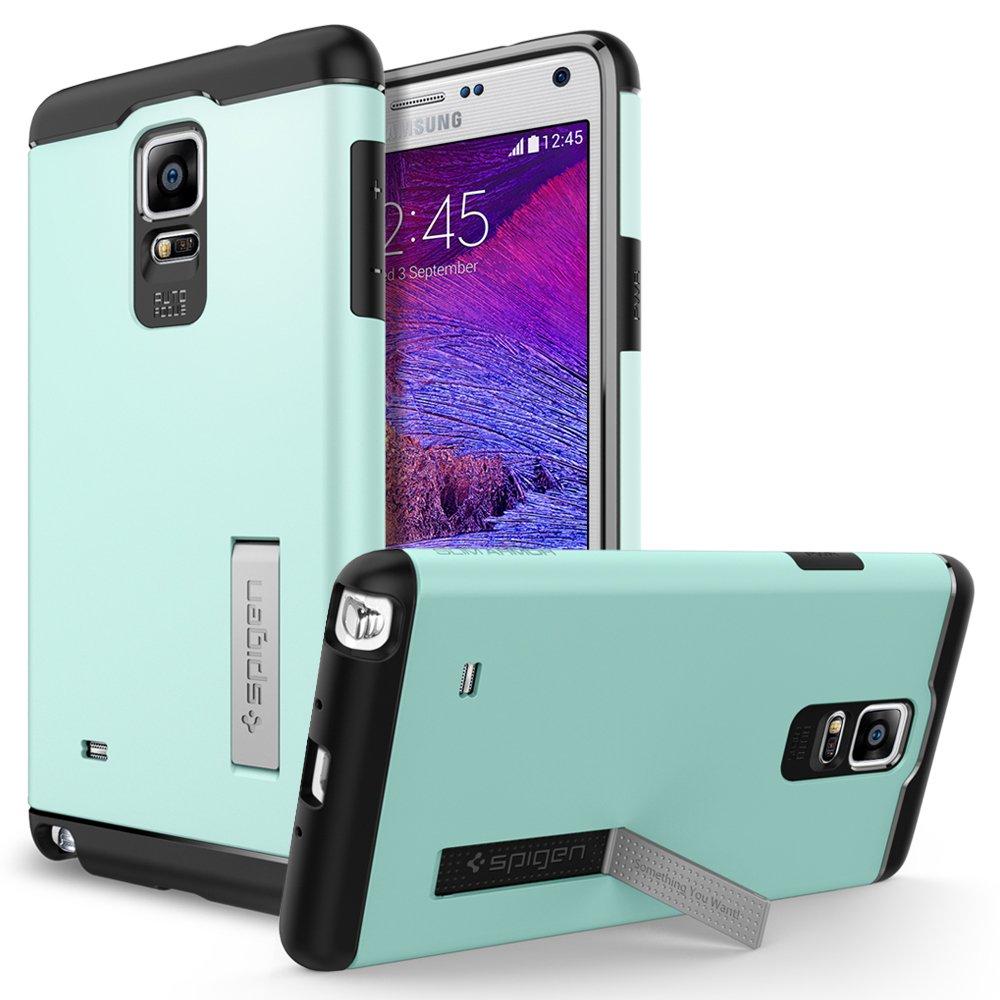 Spigen Slim Armor - Carcasa para Samsung Galaxy Note 4 (función soporte), azul  Electrónica Más información y revisión del cliente