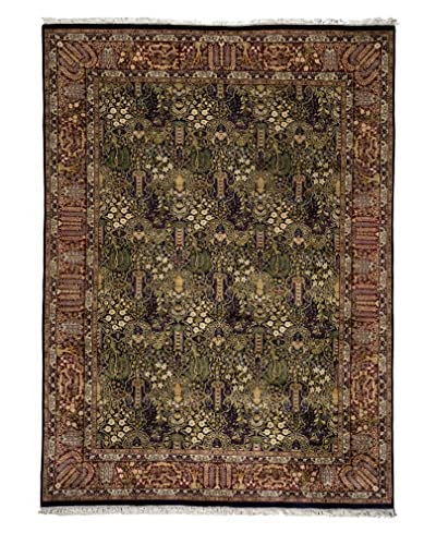 Darya Rugs Traditional Hand-Knotted Rug, Blue, 6′ 1″ x 8′ 7″