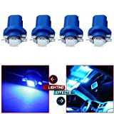 cciyu B8.5D LED Bulb Car LED Instrument Indicator Light C5W Side Interior Lamp,4Pack (Color: Blue)